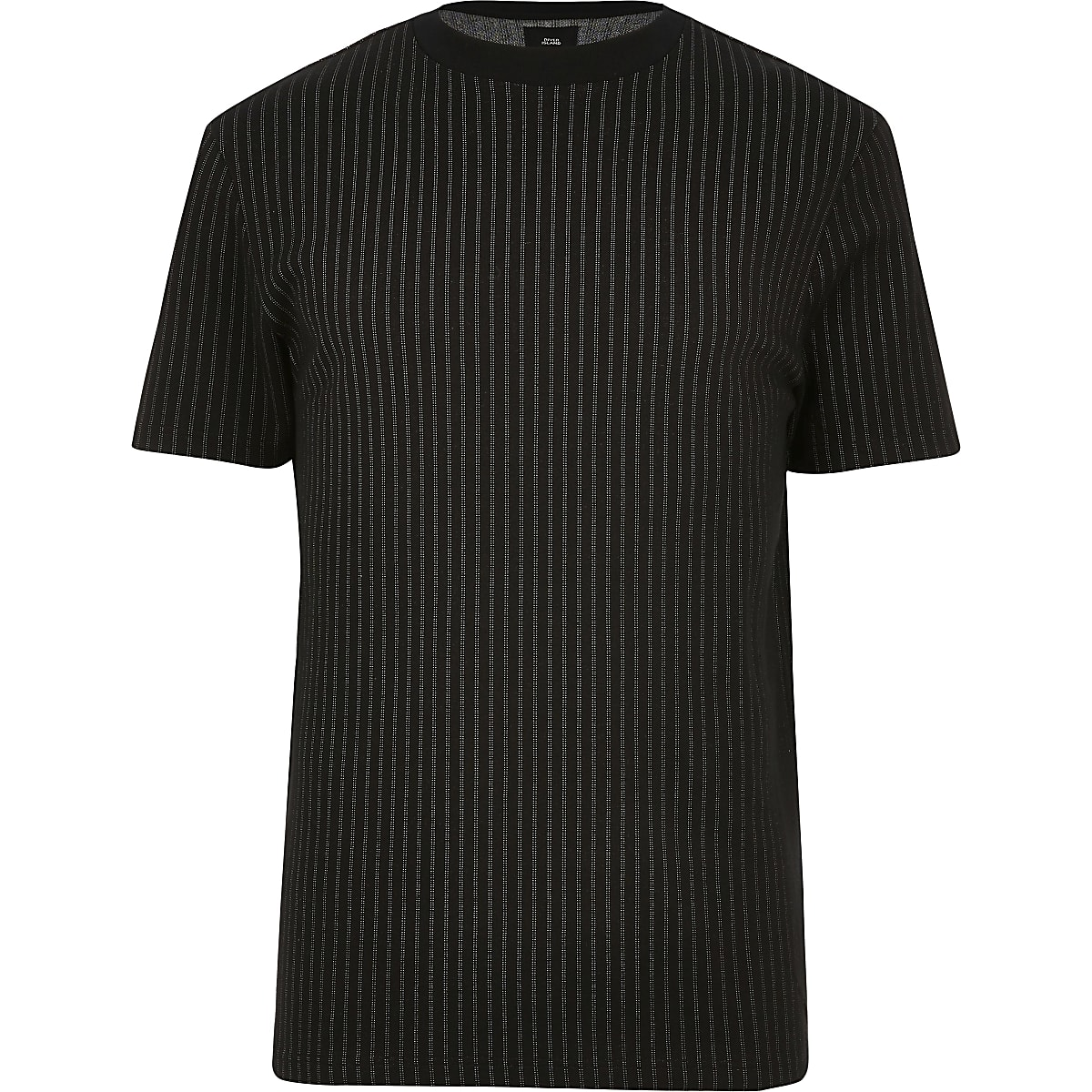 Big and Tall black stripe slim fit T-shirt