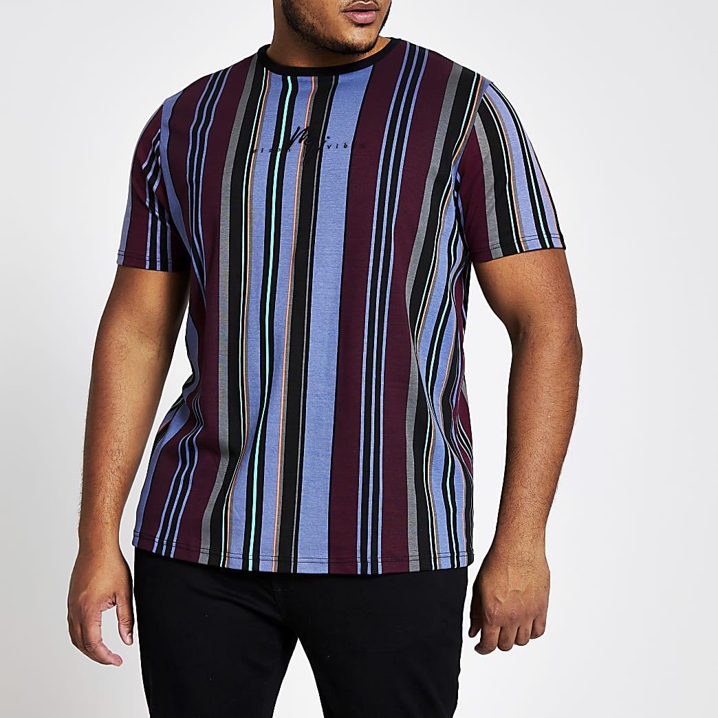 Big and Tall – Maison Riviera T-Shirt im Slim Fit