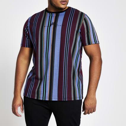 Big and Tall slim fit Maison Riviera T-shirt