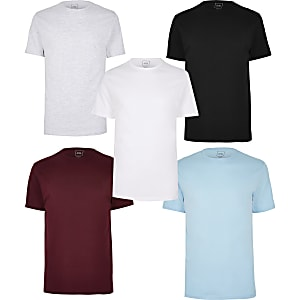 Lot de 5 t-shirts slim multicolores