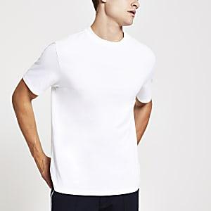 T-shirt classiqueblanc à manches courtes