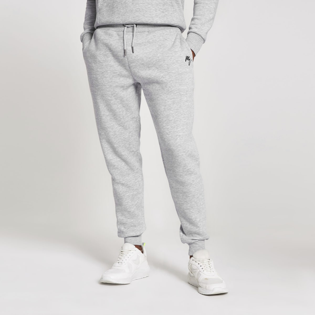 Maison Riviera - Grijze slim-fit joggingbroek