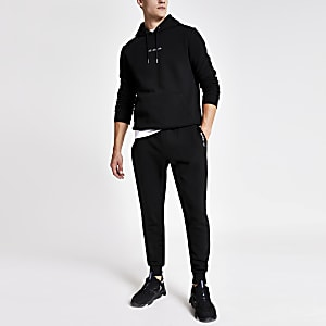 R96 black slim fit jogger