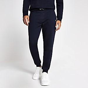 Maison Riviera– Pantalons de jogging slim bleu marine