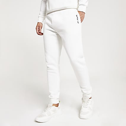 White R96 slim fit jogger