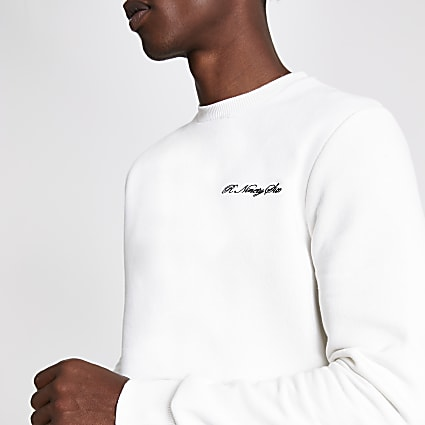 White slim fit  R96 sweatshirt