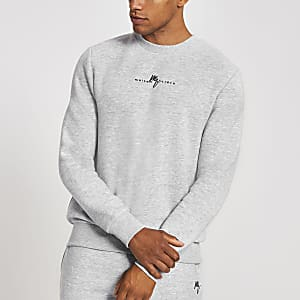 Sweat slim Maison Riviera gris