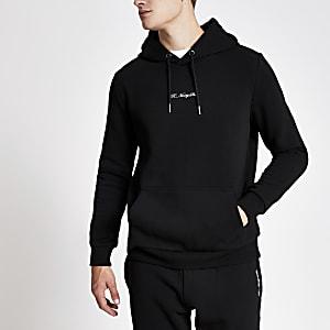 Black R96 slim fit hoodie
