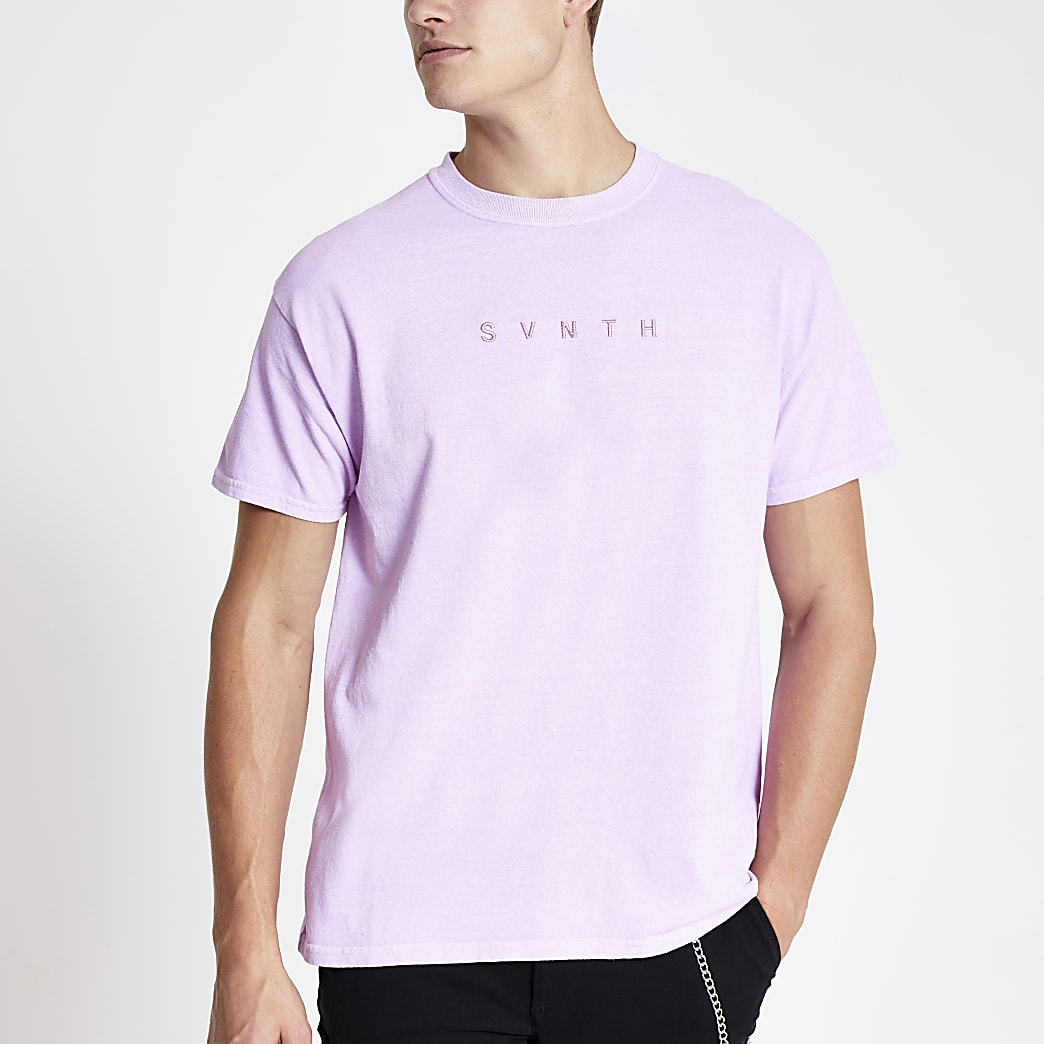 Purple washed Svnth T-shirt