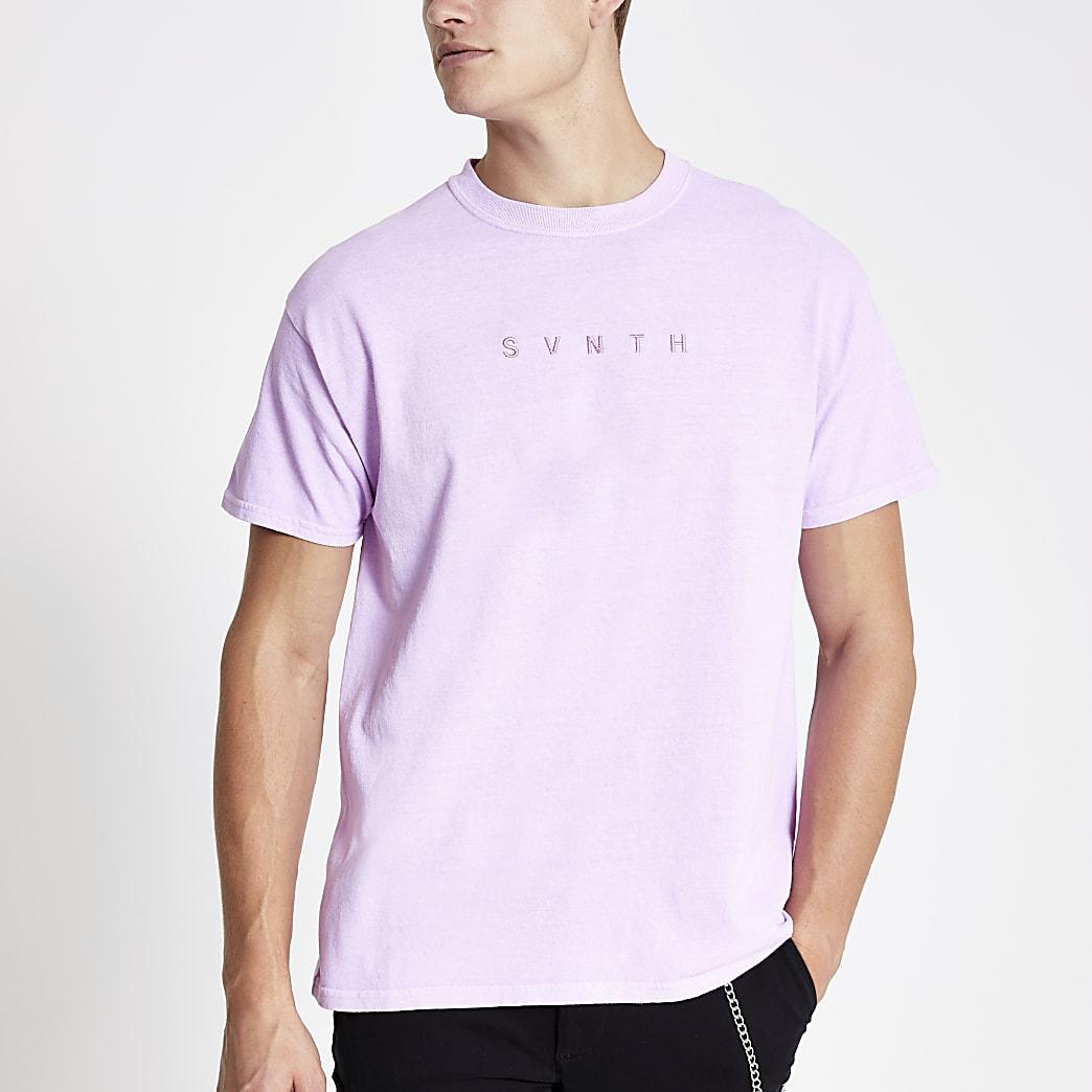 T-shirt «Svnth» violet délavé