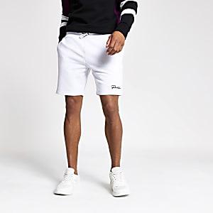 White 'Prolific' slim fit jersey shorts