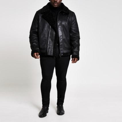 Big and Tall shearling aviator jacket