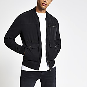dfdf644f6 Black Bomber Jackets | Men Coats & Jackets | River Island