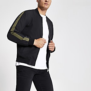 Black 'Maison Riviera' bomber jacket