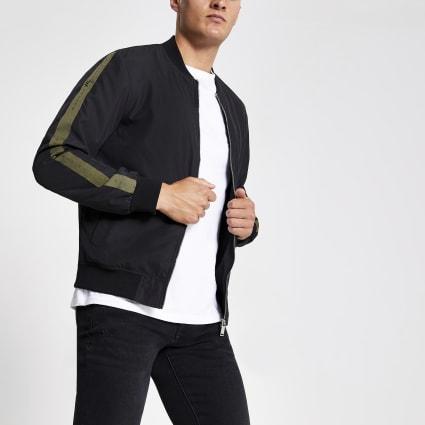 Black Maison Riviera bomber jacket