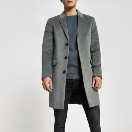 Green single breasted overcoat