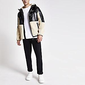 Prolific – Veste à capuche noire etborg colour block