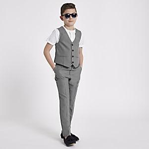 Gilet de costume gris pour garçon