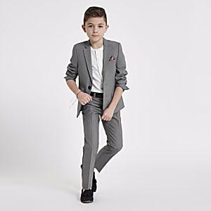 Boys grey suit blazer jacket