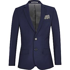 Leuchtend blaue Anzugjacke