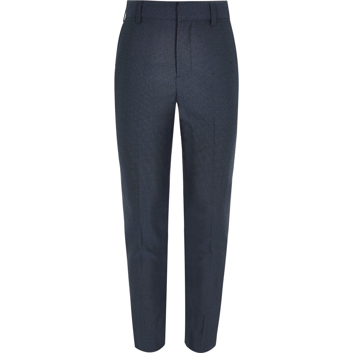 Boys petrol blue suit trousers