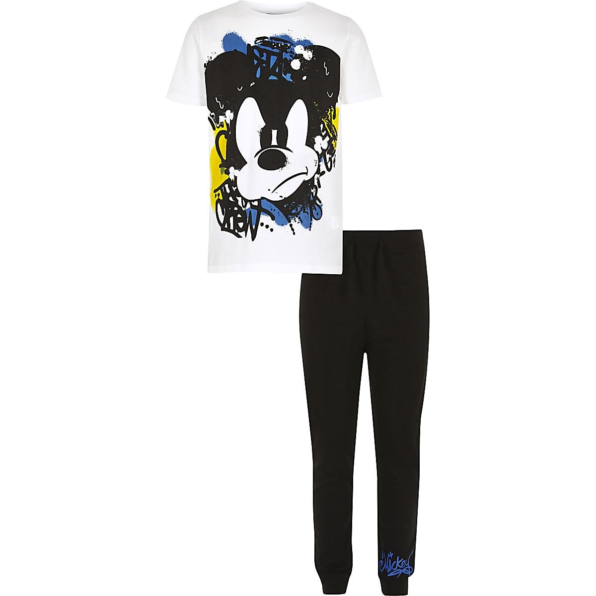 Boys white Mickey Mouse pajama set