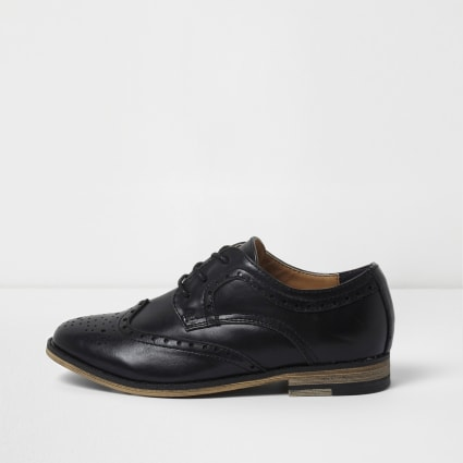 Boys black brogues