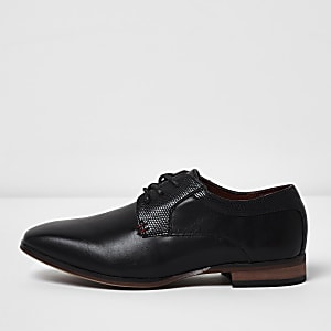 7a1a448ac18097 Boys black pointed brogue shoes