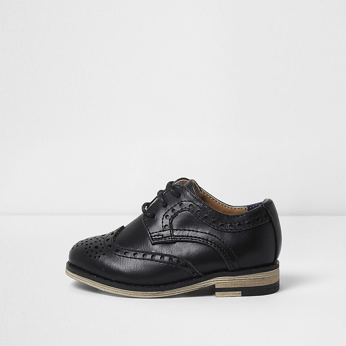 46e6cae4fa32 Mini boys black brogues - Baby Boys Shoes - Baby Boys Shoes   Boots - Mini  Boys - boys