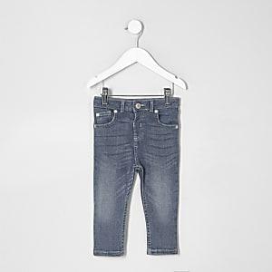 Mini boys mid blue wash skinny denim jeans