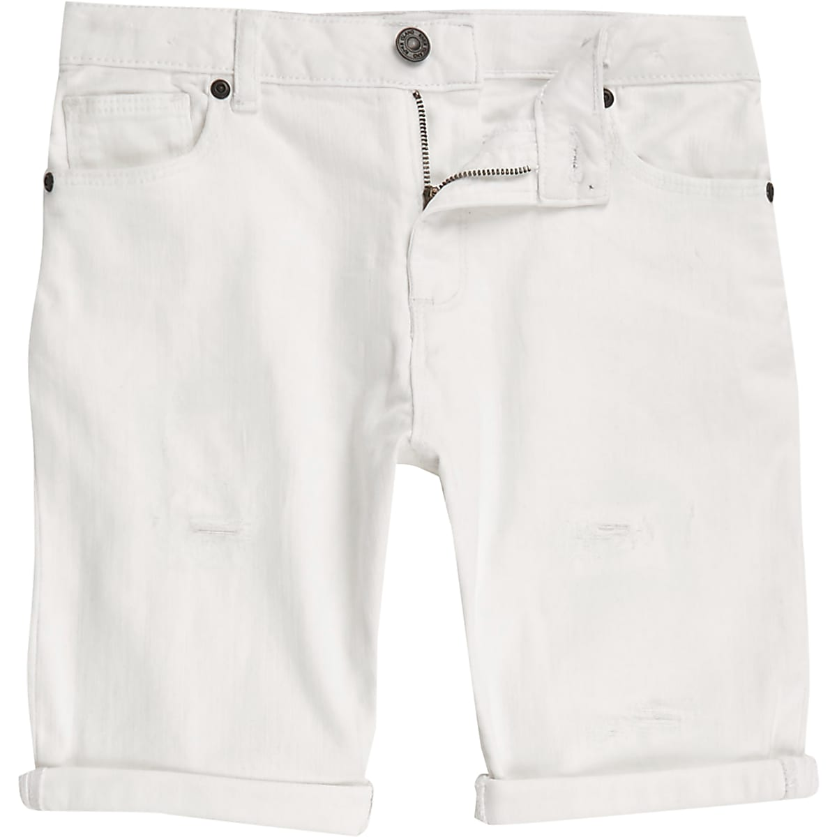 77766fb53a Boys white ripped denim shorts Boys white ripped denim shorts ...