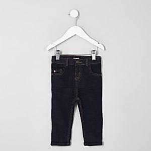 Mini - Sid - Donkerblauwe skinny-fit jeans voor jongens