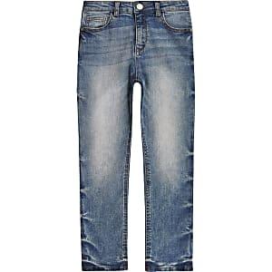 Blauwe nauwaansluitende authentieke Dylan jeans voor jongens