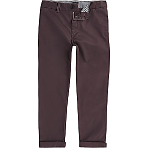 Chino-Hose in Bordeaux