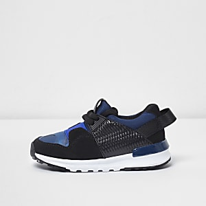 Mini boys blue camo insert runner sneakers