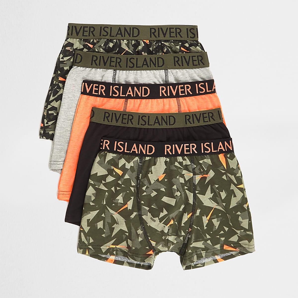 Lot de boxers à imprimé camouflage pour garçon