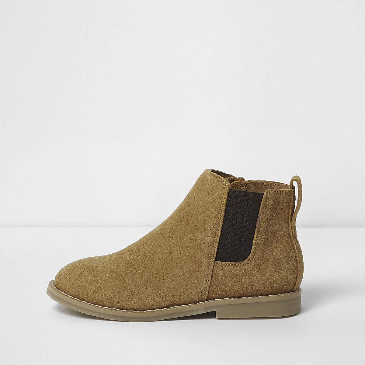 Boys tan brown chelsea boots