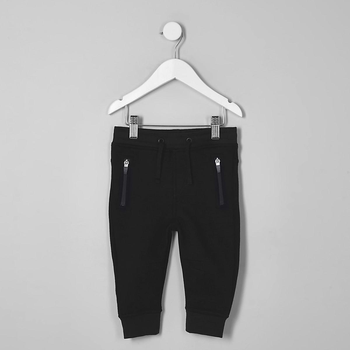 Pantalon de survêtement bleu marine à poche zippée mini garçon