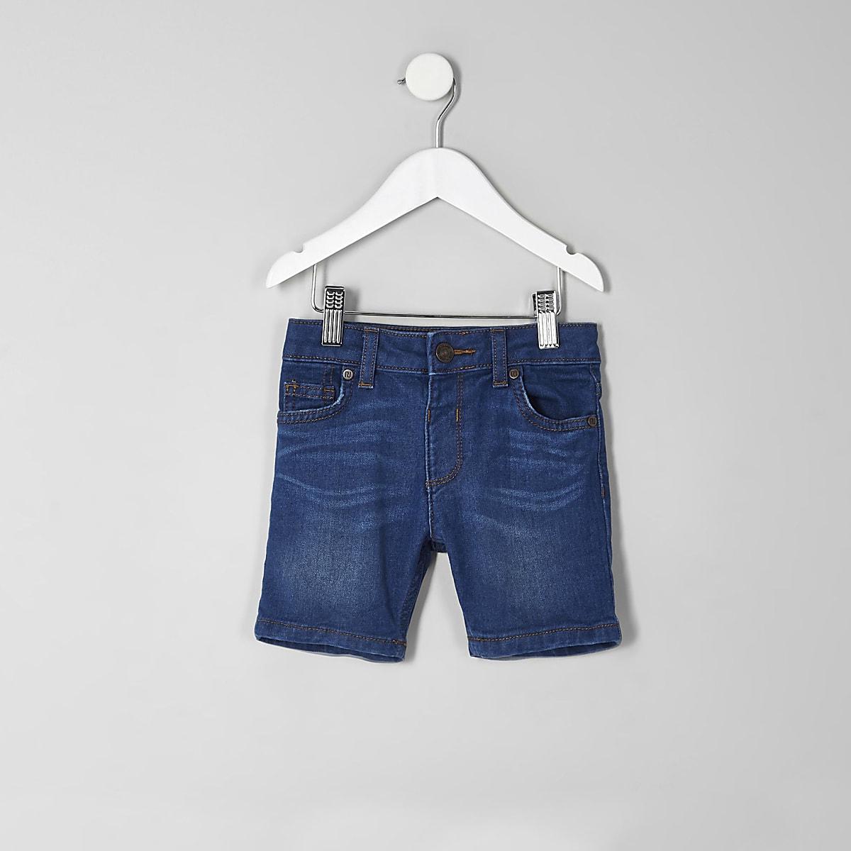 12c391be1dbe0 Dylan – Short en jean bleu slim mini garçon - Shorts bébé garçon ...