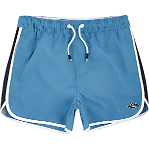 Boys blue runner swim trunks