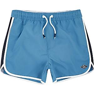 Short de bain bleu style course pour garçon