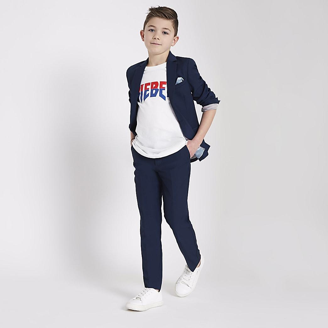 Boys blue suit blazer
