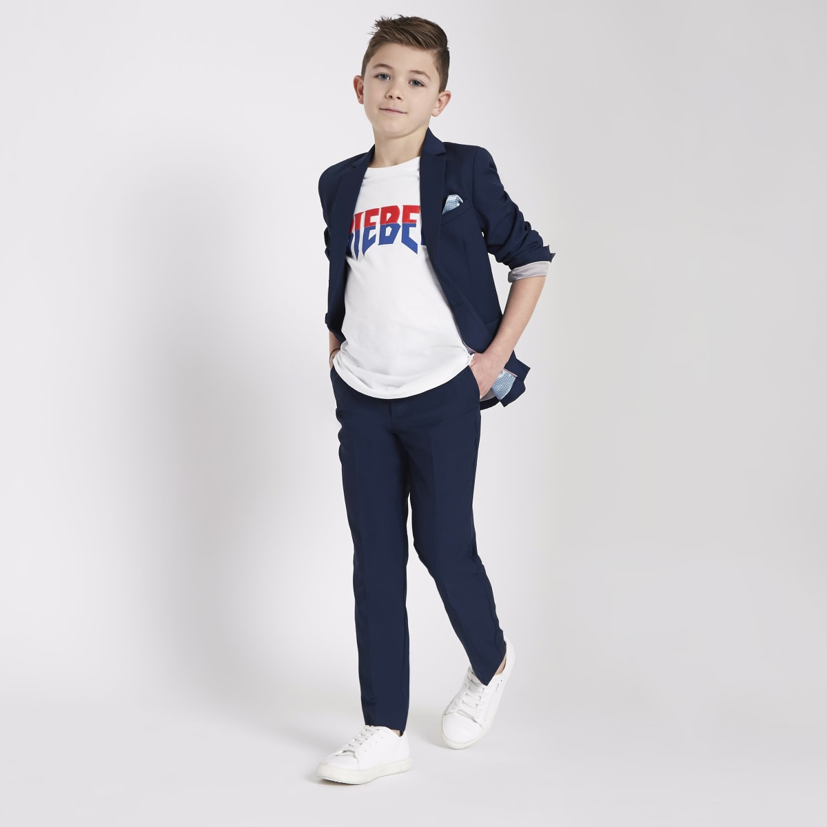 Boys blue suit blazer