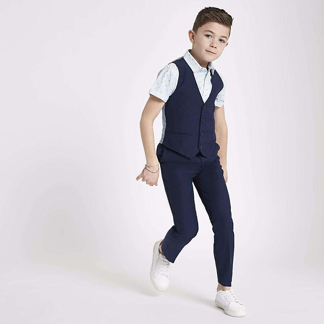 Marineblaue Anzugweste für Jungen