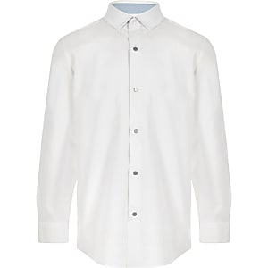 Boys white long sleeve shirt