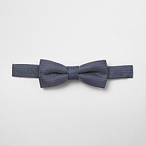 Boys blue jacquard bow tie