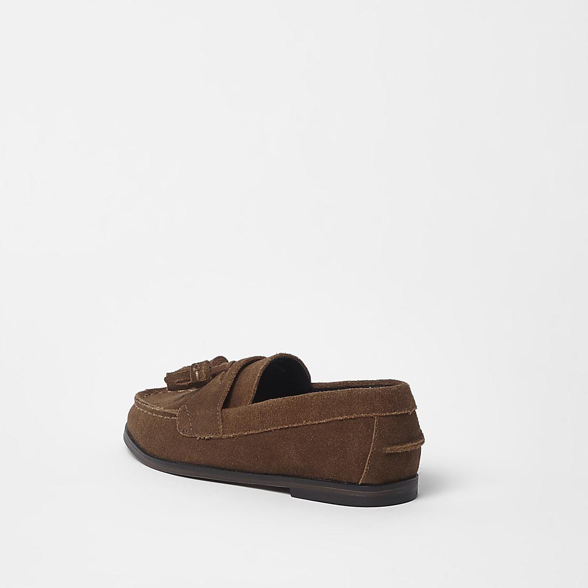 fa677a98015 Boys tan suede tassel loafers - Shoes - Footwear - boys