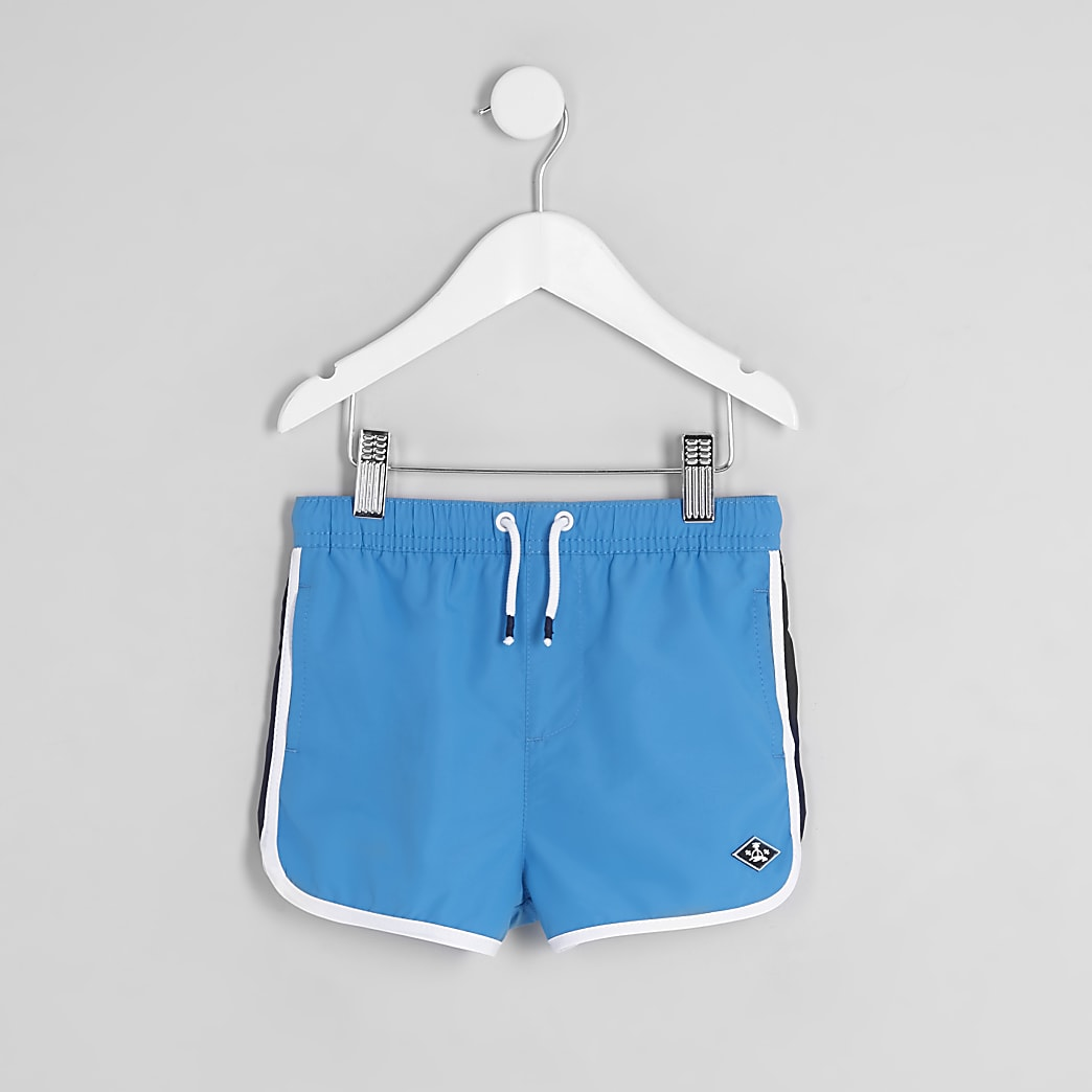 Mini boys blue runner swim shorts