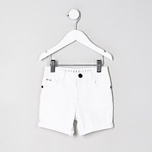 Dylan – Short en jean blanc mini garçon