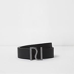 Boys black RI pin buckle belt